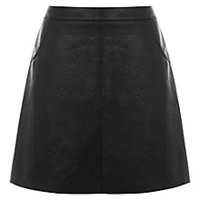 Buy Warehouse Faux Leather Pocket Skirt Online at johnlewis.com