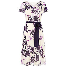 Buy Jacques Vert Petite Floral Dress, Light Pink Online at johnlewis.com