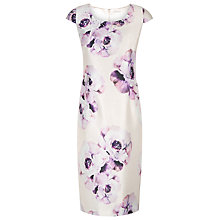 Buy Jacques Vert Print Embellished Dress, Light Pink Online at johnlewis.com