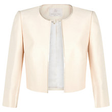 Buy Jacques Vert Petite Cropped Jacket, Light Neutral Online at johnlewis.com