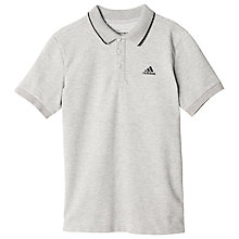 Buy Adidas Boys' Essentials Training Polo Shirt, Medium Grey Heather Online at johnlewis.com