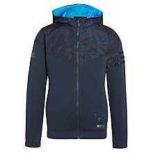 Buy Adidas Boys' LS FZ Messi Hoodie, Navy Online at johnlewis.com