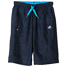 Buy Adidas Boys' Messi Bermuda Shorts, Navy Online at johnlewis.com