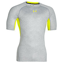 Buy Under Armour HeatGear Armour Printed Compression T-Shirt, Grey Online at johnlewis.com