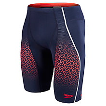 Buy Speedo Fit Pinnacle Jammer Swim Shorts, Navy/Red Online at johnlewis.com