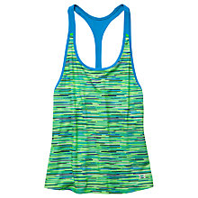 Buy Under Armour HeatGear Armour Printed Tank Top, Green/Blue/White Online at johnlewis.com