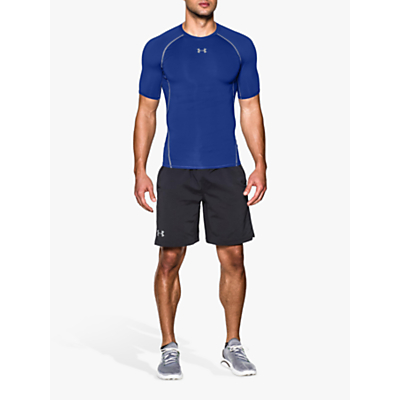 Image of Under Armour HeatGear Armour Compression T-Shirt, Royal Blue