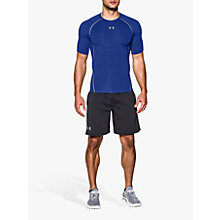Buy Under Armour HeatGear Armour Compression T-Shirt, Royal Blue Online at johnlewis.com