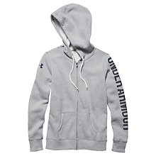 Buy Under Armour Storm Full Zip Training Hoodie, Grey Heather Online at johnlewis.com