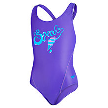 Buy Speedo Girls' Endurance Ice Cream Logo Splashback Swimsuit Online at johnlewis.com