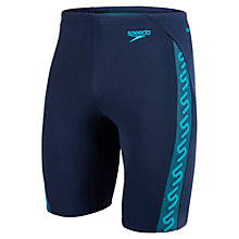 Buy Speedo Monogram Jammers, Navy Online at johnlewis.com