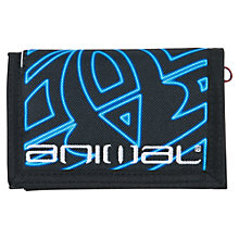 Buy Animal Children's Neon Logo Wallet, Black/Blue Online at johnlewis.com