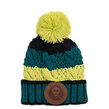 Buy Animal Children's Galie Thick Weave Bom Hat, Blue/Yellow, One Size Online at johnlewis.com