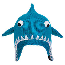 Buy Animal Children's Bate Shark Trapper Hat, Blue, One Size Online at johnlewis.com