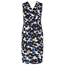 Buy Windsmoor Floral Print Dress, Bright Blue Online at johnlewis.com