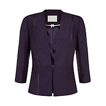 Buy Jacques Vert Petite Corded Button Jacket, Dark Purple Online at johnlewis.com