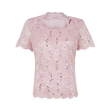 Buy Jacques Vert Lace Round Neck Top Online at johnlewis.com