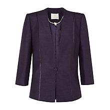 Buy Jacques Vert Corded Button Jacket, Dark Purple Online at johnlewis.com