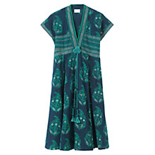 Buy East Plush Butah Print Dress, Lagoon Online at johnlewis.com