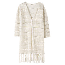 Buy East Hand Crocheted Long Cardigan, Ivory Online at johnlewis.com