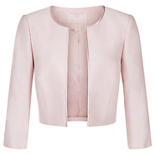 Buy Jacques Vert Cropped Edge Jacket, Light Pink Online at johnlewis.com