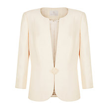 Buy Jacques Vert One Ribbon Button Jacket, Light Neutral Online at johnlewis.com