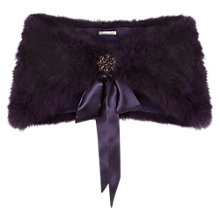 Buy Jacques Vert Feather Stole, Dark Purple Online at johnlewis.com