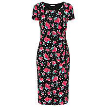 Buy Precis Petite Spot Dress, Black Online at johnlewis.com