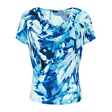 Buy Precis Petite Print Cowl Neck Top, Multi Blue Online at johnlewis.com