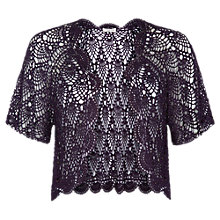 Buy Jacques Vert Crochet Cover Up, Dark Purple Online at johnlewis.com
