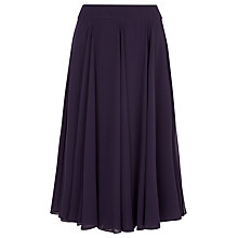 Buy Jacques Vert Petite Layered Chiffon Skirt, Dark Purple Online at johnlewis.com