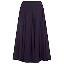 Buy Jacques Vert Layer Chiffon Skirt, Dark Purple Online at johnlewis.com