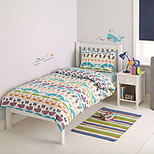 Buy little home at John Lewis Two-by-Two Whales & Waves Duvet Cover and Pillowcase Set, Single Online at johnlewis.com