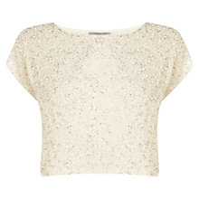Buy Coast Petite Bliss Top, Ivory Online at johnlewis.com
