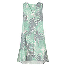 Buy East Palm Print Linen Dress, Mineral Online at johnlewis.com