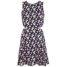 Buy Miss Selfridge Petite Daisy Print Cut Out Dress, Multi Online at johnlewis.com