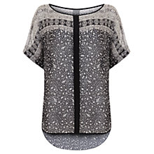 Buy Mint Velvet Ava Print Easy Tee, Multi Online at johnlewis.com