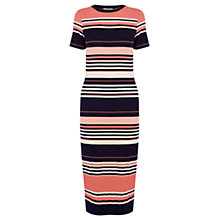 Buy Oasis Candy Stripe Tube Dress, Pink Online at johnlewis.com