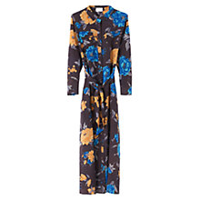 Buy East Francesca Silk Shirt Dress, Slate Online at johnlewis.com