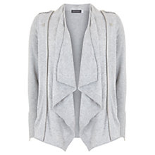 Buy Mint Velvet Zip Detail Cardigan, Grey Online at johnlewis.com