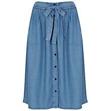 Buy Miss Selfridge Soft Denim Skirt, Mid Wash Denim Online at johnlewis.com
