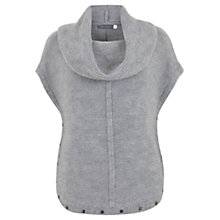 Buy Mint Velvet Cropped Tabard Knit Jumper, Grey Online at johnlewis.com