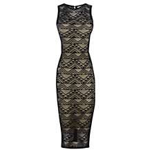 Buy Oasis Geo Lace Tube Dress, Black Online at johnlewis.com