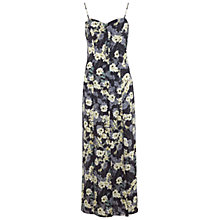 Buy Miss Selfridge Floral Button Detail Maxi Dress, Multi Online at johnlewis.com