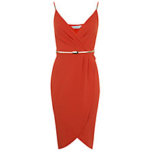 Buy Miss Selfridge Wrap Pencil Dress, Coral Online at johnlewis.com