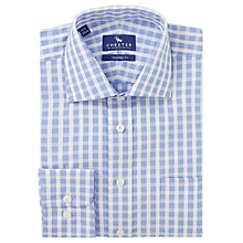 Buy Chester by Chester Barrie Check Tailored Fit Shirt, Blue/White Online at johnlewis.com