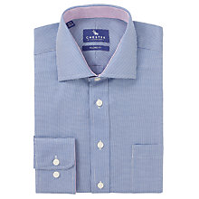 Buy Chester by Chester Barrie Mini Puppytooth Tailored Shirt, Navy Online at johnlewis.com