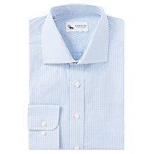 Buy Chester by Chester Barrie Micro Check Tailored Fit Shirt, Blue/White Online at johnlewis.com