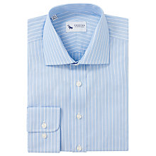 Buy Chester by Chester Barrie Stripe Tailored Shirt, Blue Online at johnlewis.com