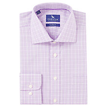 Buy Chester by Chester Barrie Tonal Check Shirt, Lilac Online at johnlewis.com